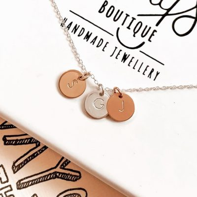 Personalised Disc Necklace - Trio