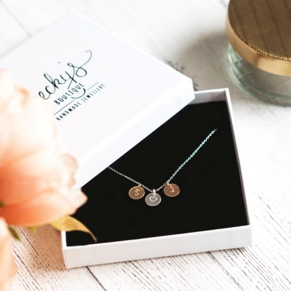 Personalised Mini Disc Necklace - Trio