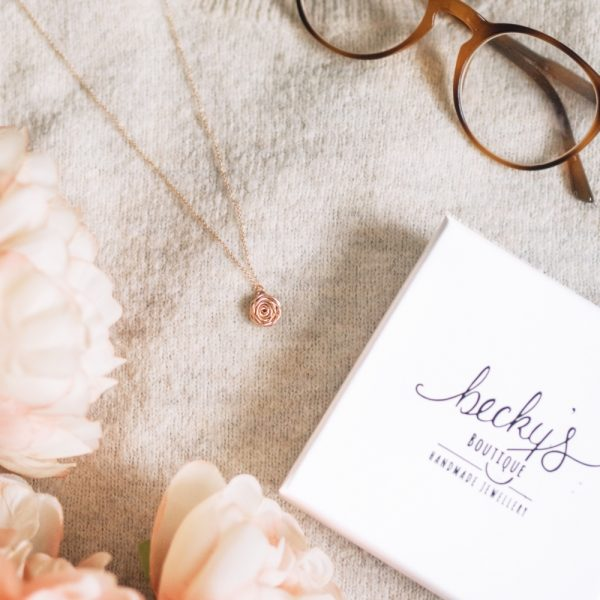Choose feminine florals with our Rose Necklace