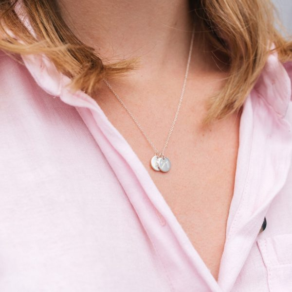 Engraved Mini Disc Necklace