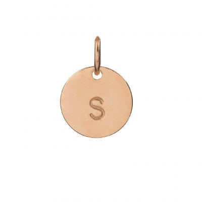Mini Rose Gold Personalised Disc Charm